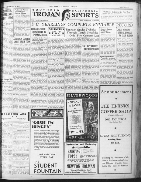 Daily Trojan, Vol. 23, No. 42, November 09, 1931