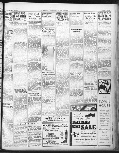 Daily Trojan, Vol. 22, No. 83, February 09, 1931