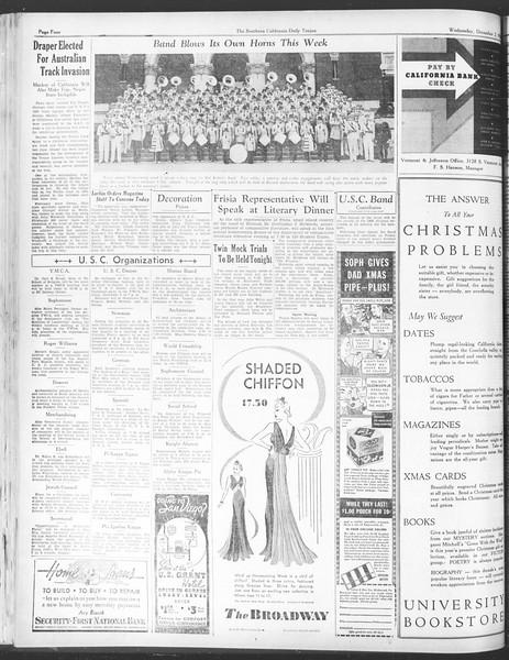 Daily Trojan, Vol. 28, No. 50, December 02, 1936