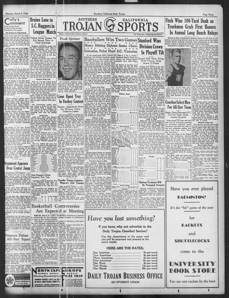 Daily Trojan, Vol. 27, No. 94, March 09, 1936