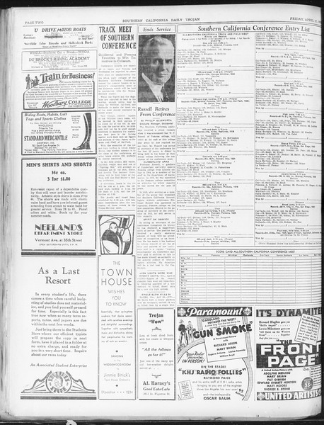 Daily Trojan, Vol. 22, No. 125, April 17, 1931