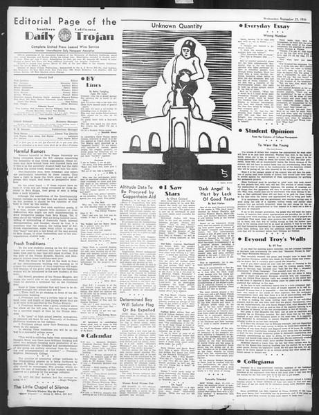 Daily Trojan, Vol. 27, No. 4, September 25, 1935