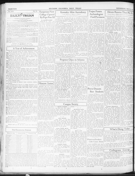 Daily Trojan, Vol. 22, No. 152, May 27, 1931