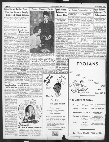 Daily Trojan, Vol. 26, No. 140, May 20, 1935