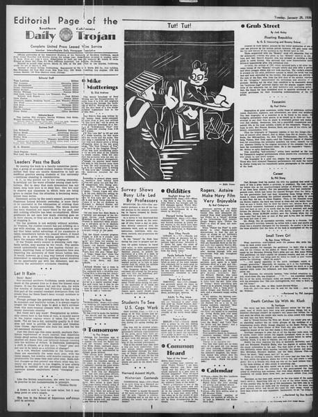Daily Trojan, Vol. 27, No. 74, January 28, 1936