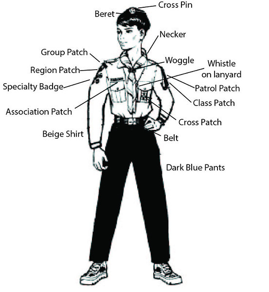Explorer Uniform and Badge placement