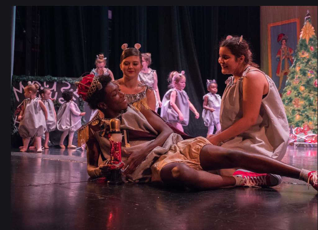 """Perez-Telon, right, in """"The Nutcracker."""" This image was taken before the COVID-19 pandemic."""