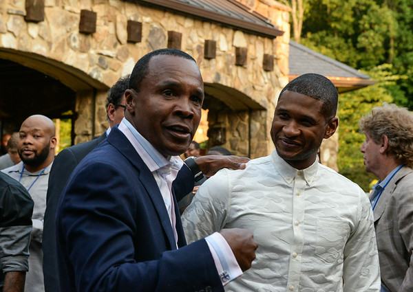 Sugar Ray Leonard and Usher