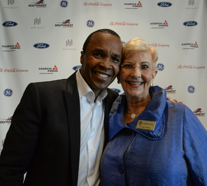 Sugar Ray Leonard, Sandra Deal, First Lady of Georgia