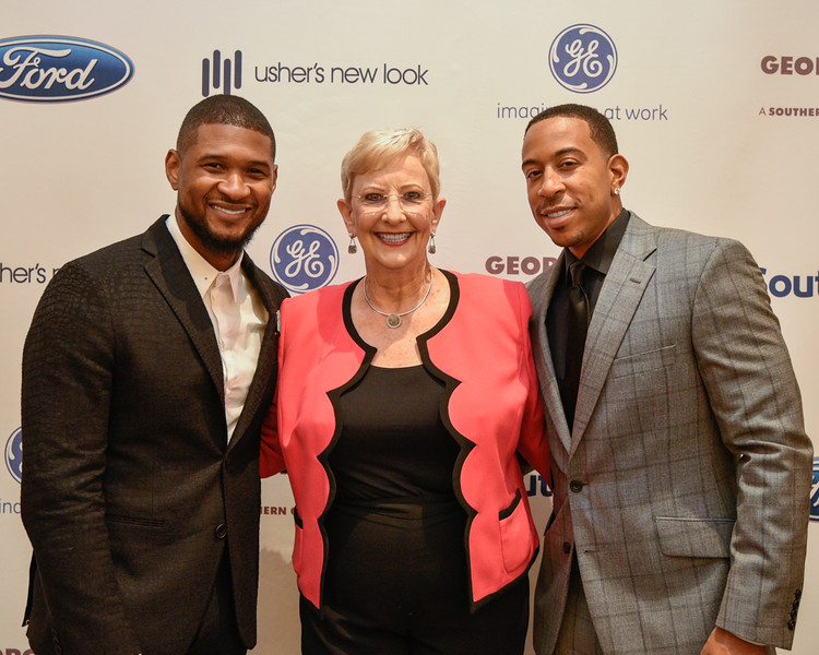 Usher, First Lady of Georgia Sandra Deal, and Ludacris