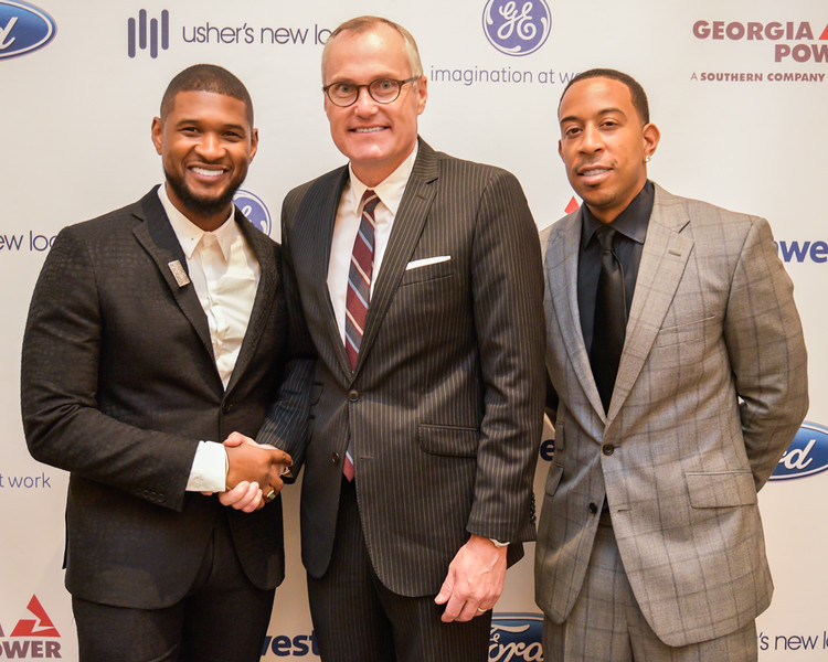 Usher, Lieutenant Governor Casey Cagle, and Ludacris