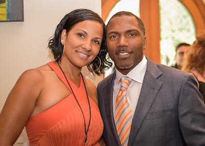 Former Atlanta Falcons Player Allen Rossum  and  Angela Rossum