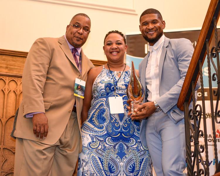 UNL 2015 Community Champions Award recipient, Tasha Taylor, and Neal Taylor