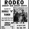 Newspaper ad - September 16th rodeo at the Double H Ranch