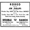 Cowboy Joe Phillips (1924-2006) trained horses & performed in circuses. Wonder Dog Shep appeared in movies & commercials.