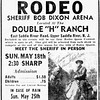 Newspaper ad for the May 18th rodeo at the Double H Ranch