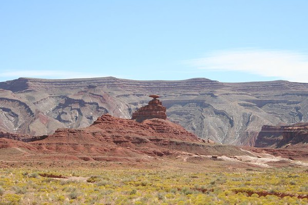 Mexican Hat - Wide angle view