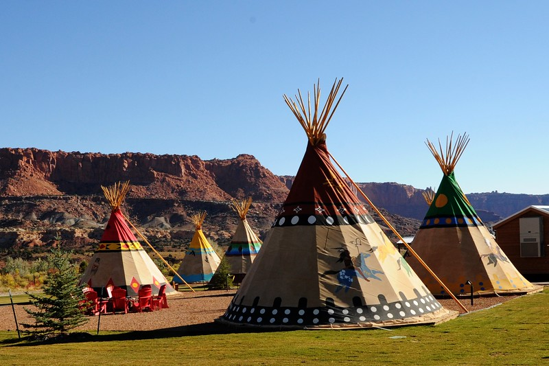 WE COULD HAVE STAYED IN TEEPEES...