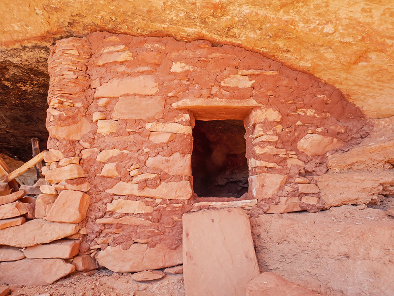 One of many structures tucked into an alcove.