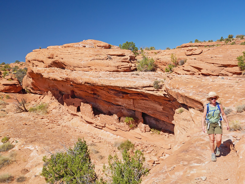 """After following ledges beyond the """"second"""" ruins for a while, we returned via a higher route."""