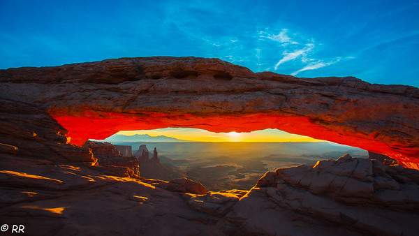 Mesa Arch in Canyonlands National Park at Sunrise