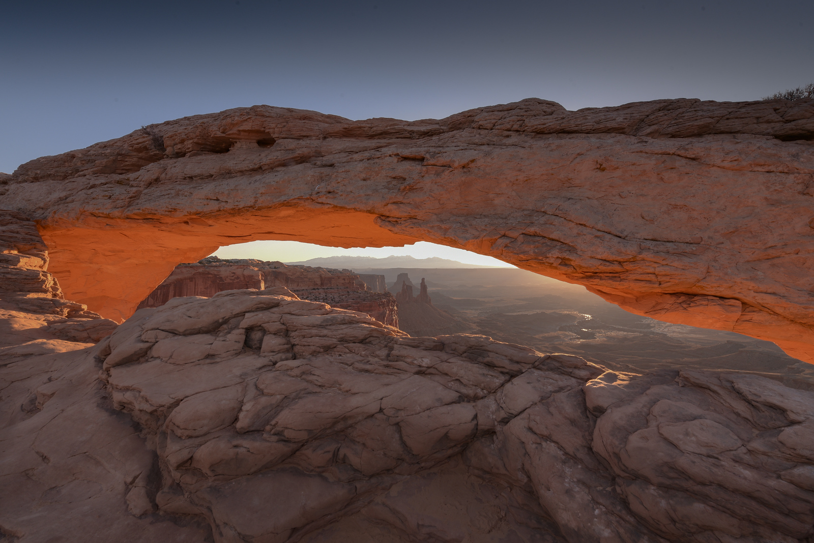 Mesa Arch Winter Sunrise