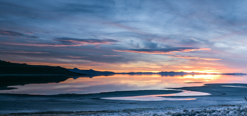 Bridger Bay - mid sunset Antelope Island State Park