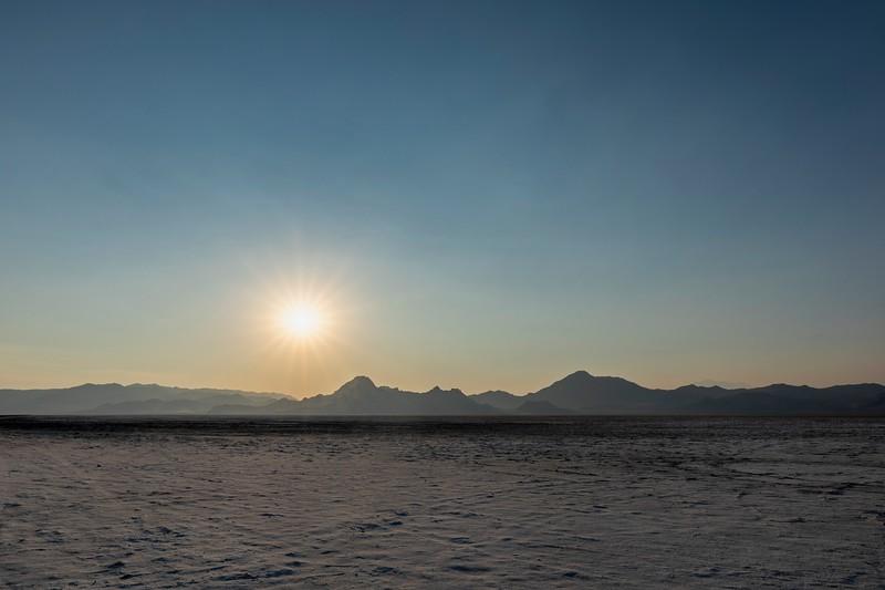 Sunset at the Bonneville Salt Flats