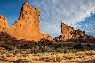 Courthouse Towers and Sheep Rock, Arches National Park, Utah