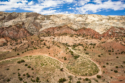 Waterpocket Fold from the Oyster Shell Reef, Capitol Reef National Park, Utah