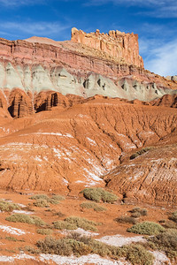 Badlands and The Castle, Capitol Reef National Park, Utah