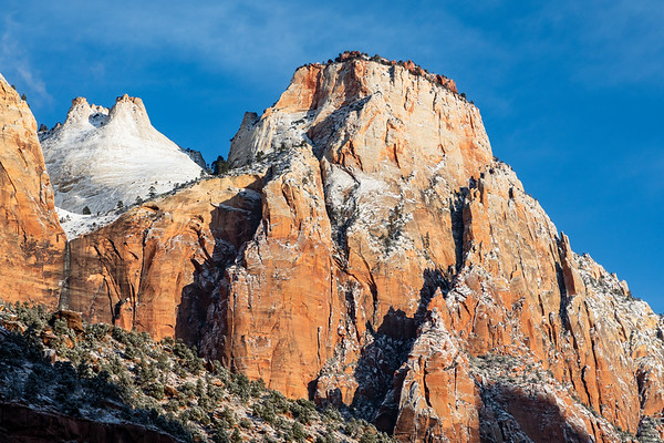 The Sentinel and the Beehives, Zion National Park, Utah