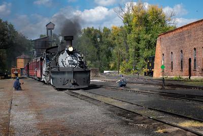 Narrow Guage Steam Train in Chama, New Mexico