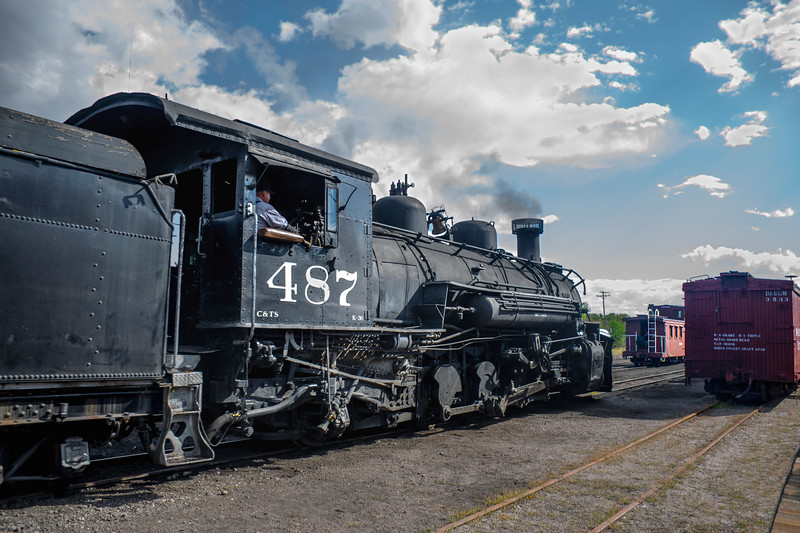 Narrow Guage Steam Engine in Chama, New Mexico