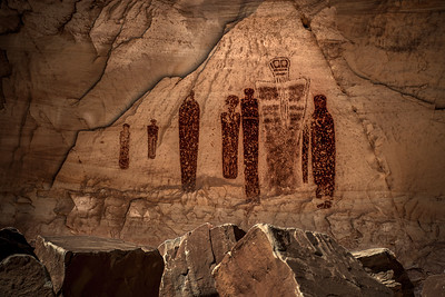The Holy Ghost Panel–Great Gallery, Horseshoe Canyon, Canyonlands NP