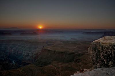 San Juan River Sunset at Muley Point, Utah