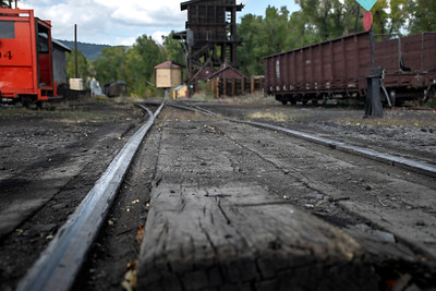 Narrow Guage Train Tracks in Chama, New Mexico