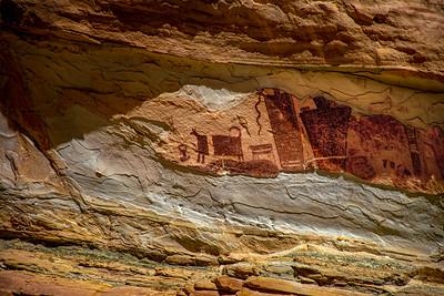 Temple Mountain Wash Pictograph Panel, Utah