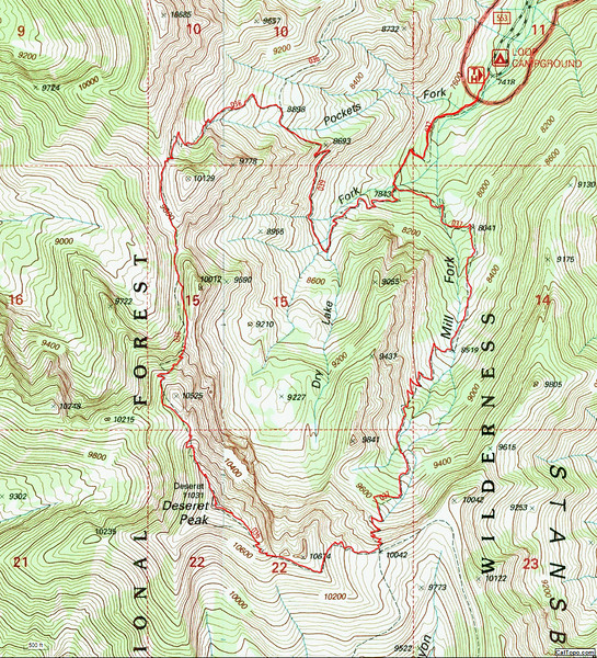 Deseret Peak Trail Map