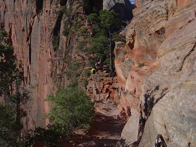 Angels landing 1200 foot drop off on the left side