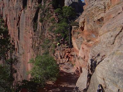 Angels landing 1200 foot drop off on the left side
