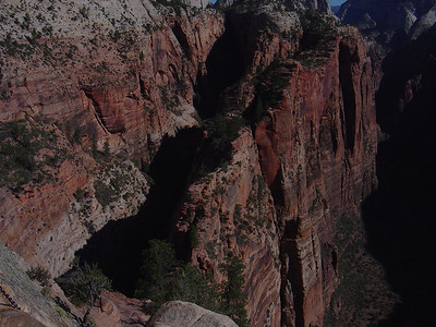 Going back down angels landing trail