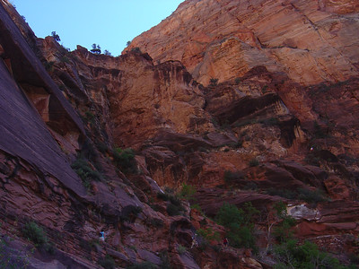 People walking up Angels landing trail