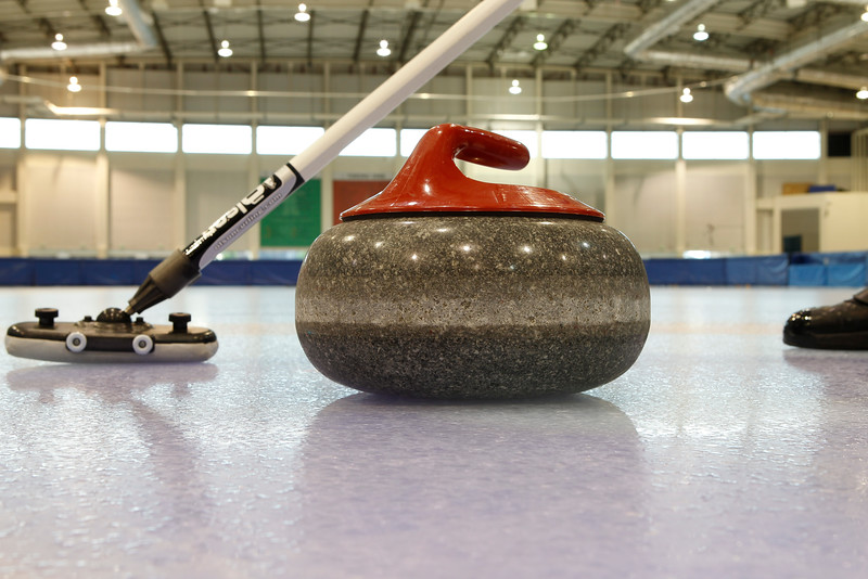 Utah Olympic Oval Curling Stone and Broom