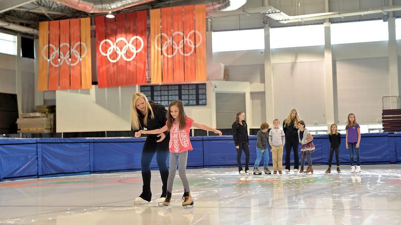 Skaters at the Utah Olympic Oval in Salt Lake City, Utah June 2015.