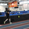 Man Running on the Utah Olympic Oval Track