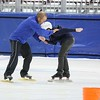 Derek Parra Instructing Learn to Speed Skate