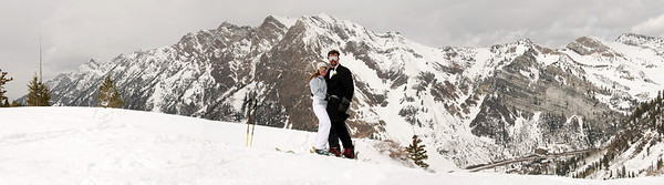 36x10 inch panorama wedding Snowbird-1