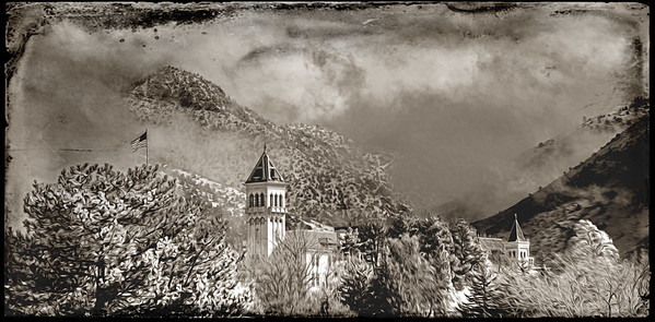 USU Old Main scenic images