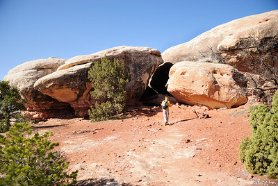 The neat thing about Canyonlands, or, this type of hiking in Utah and other places, is the variety.  It's always different terrain and views.